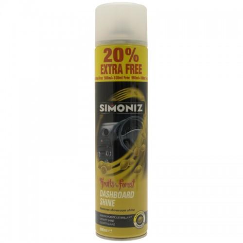 Simoniz Dashboard Shine Lemon Aerosol 20 Ef 500ml - Interior Range