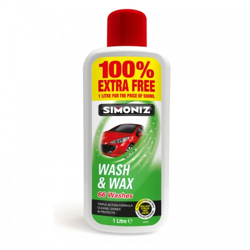 Simoniz Wash & Wax 1l 100 Extra Free - Waxes
